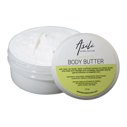 unscented body butter asili natural skincare